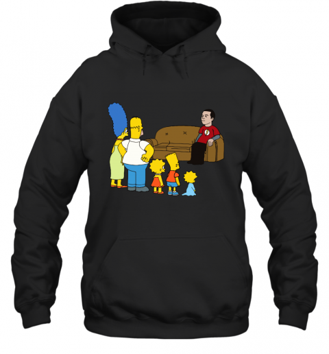 Simpsons Family And Sheldon Cooper Mashup Hoodie