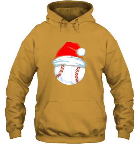 9tp2 christmas baseball shirt for kids men ball santa pajama hoodie 23 front gold