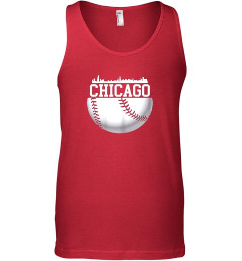 utc4 vintage downtown chicago shirt baseball retro illinois state unisex tank 17 front red