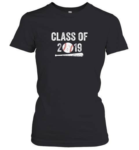 Class of 2019 Vintage Shirt Graduation Baseball Gift Senior Women's T-Shirt