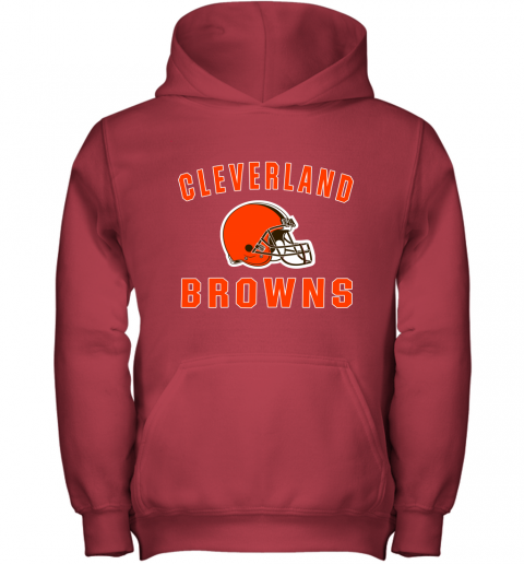 r6zh cleveland browns nfl line by fanatics branded brown victory youth hoodie 43 front red