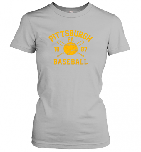 yybn vintage pittsburgh baseball pennsylvania pirate retro gift ladies t shirt 20 front sport grey