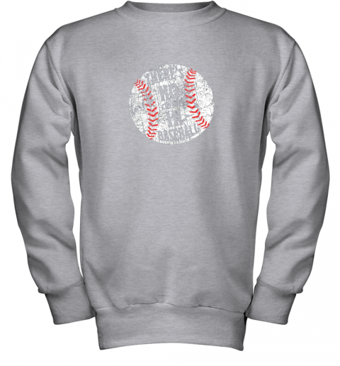 l7hs there39 s no crying in baseball i love sport softball gifts youth sweatshirt 47 front sport grey