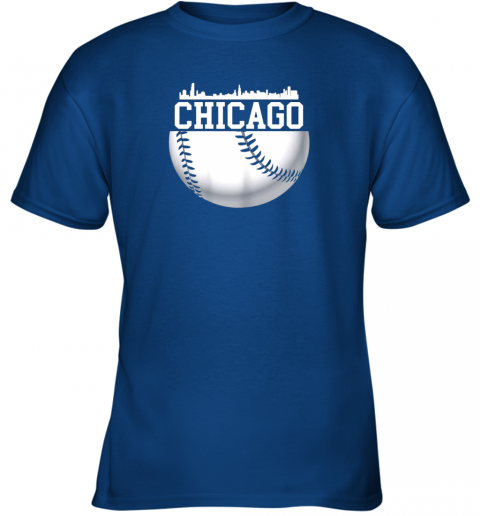 chju vintage downtown chicago shirt baseball retro illinois state youth t shirt 26 front royal