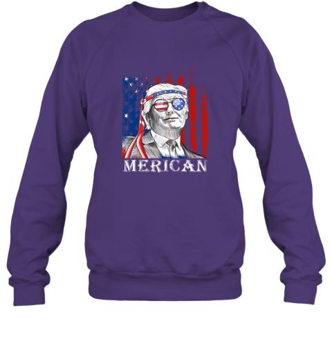 ijmn merica donald trump 4th of july american flag shirts sweatshirt 35 front purple