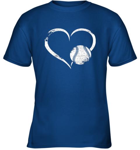 2382 i love baseballl funny baseball lover heartbeat youth t shirt 26 front royal