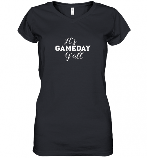 It's Game Day Y'all Football, Baseball, Basketball Women's V-Neck T-Shirt
