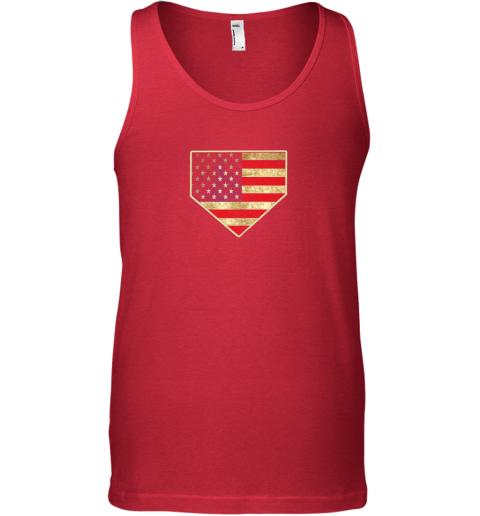 0dou vintage american flag baseball shirt home plate art gift unisex tank 17 front red
