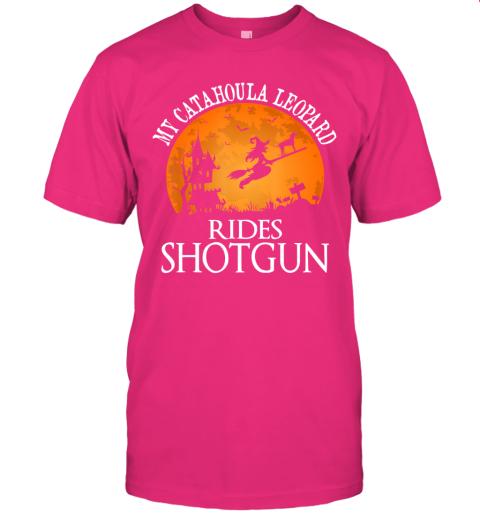 Catahoula Leopard Rides Shotgun Dog Lover Halloween Gift T-Shirt