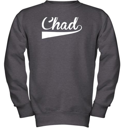 zcpf chad country name baseball softball styled youth sweatshirt 47 front dark heather