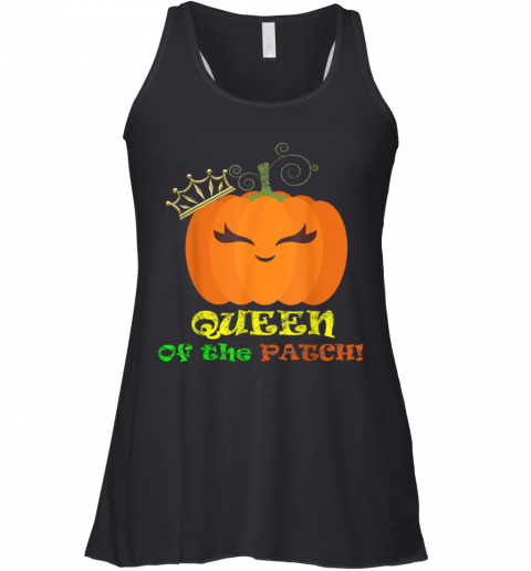 Mom Queen Of The Pumpkin Patch Family Matching Racerback Tank