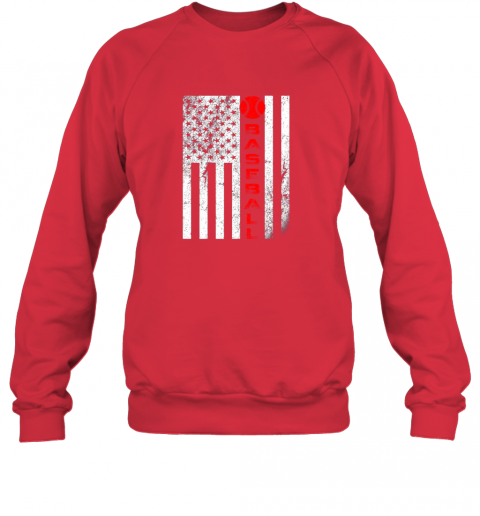 75at usa red whitevintage american flag baseball gift sweatshirt 35 front red
