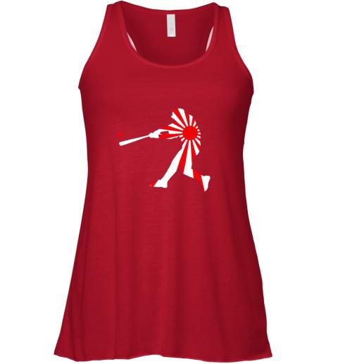 rmtx japan baseball shirt jpn batter classic nippon flag jersey flowy tank 32 front red