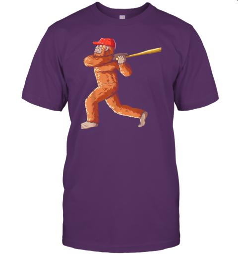 dtdx bigfoot baseball sasquatch playing baseball player jersey t shirt 60 front team purple