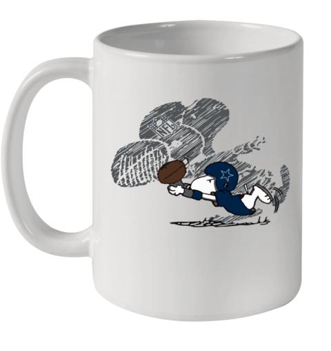 Dallas Cowboys Snoopy Plays The Football Game Ceramic Mug 11oz