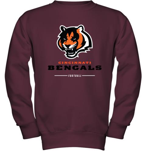 Cincinnati Cengals NFL Pro Line Black Team Lockup Youth Sweatshirt