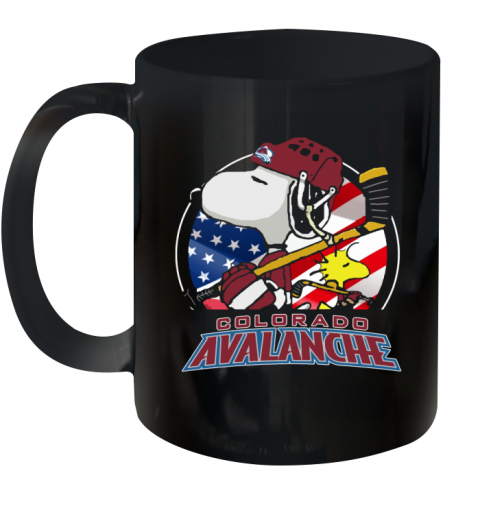 Colorado Avalanche Ice Hockey Snoopy And Woodstock NHL Ceramic Mug 11oz
