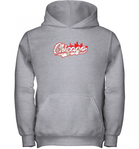 lnpq chicago vintage baseball youth hoodie 43 front sport grey