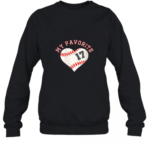 Baseball Player 17 Jersey Outfit No #17 Sports Fan Gift Sweatshirt