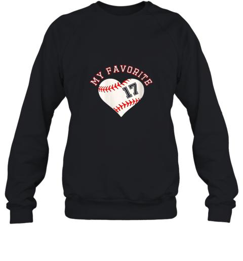 Baseball Player 17 Jersey Outfit No #17 Sports Fan Gift Sweatshirt