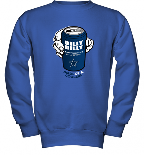 Bud Light Dilly Dilly! Dallas Cowboys Birds Of A Cooler Youth Sweatshirt