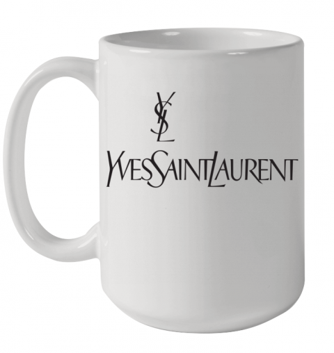 Ysl Yves Saint Laurent Logo Ceramic Mug 15oz