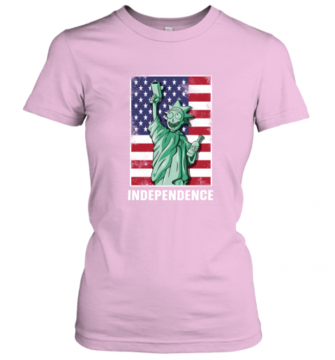 nzlr rick and morty statue of liberty independence day 4th of july shirts ladies t shirt 20 front light pink
