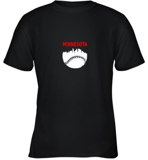 Retro Minnesota Baseball Minneapolis Cityscape Vintage Shirt Youth T-Shirt