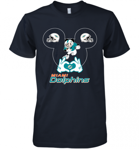 gqrj i love the dolphins mickey mouse miami dolphins premium guys tee 5 front midnight navy