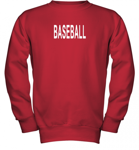 nm26 shirt that says baseball youth sweatshirt 47 front red