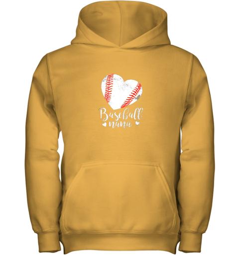 on4n funny baseball nana shirt gift for men women youth hoodie 43 front gold