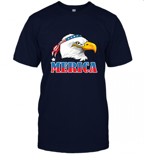 Eagle Mullet 4th Of July American Flag Merica USA Unisex Jersey Tee