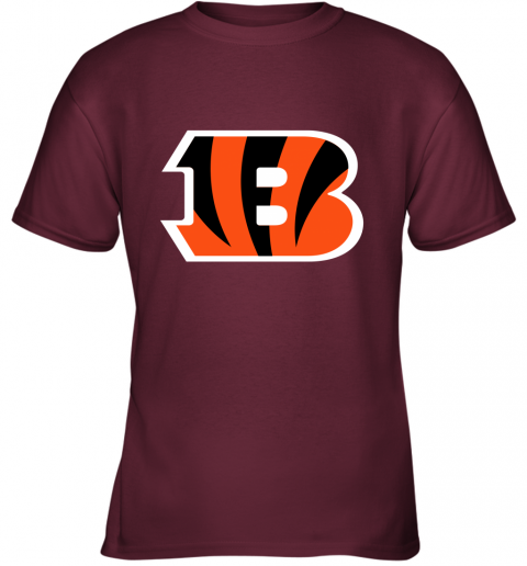 fkj5 cincinnati bengals nfl line gray victory youth t shirt 26 front maroon