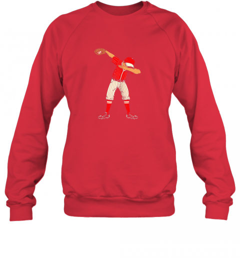 wyro dabbing baseball catcher gift shirt men boys kids bzr sweatshirt 35 front red