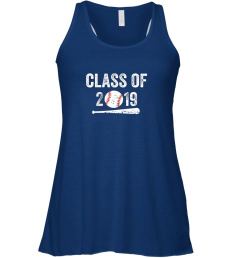 utoa class of 2019 vintage shirt graduation baseball gift senior flowy tank 32 front true royal