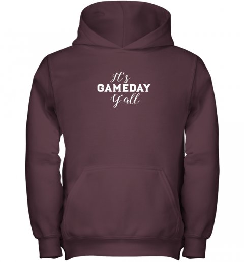lolz it39 s game day y39 all football baseball basketball youth hoodie 43 front maroon