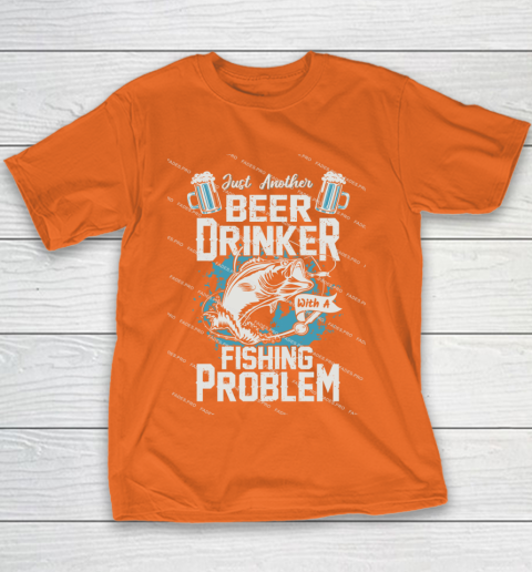 Beer Lover Funny Shirt Fishing ANd Beer Youth T-Shirt 4