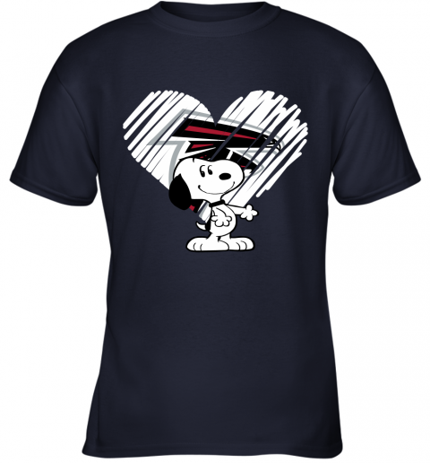 k7qv a happy christmas with atlanta falcons snoopy youth t shirt 26 front navy