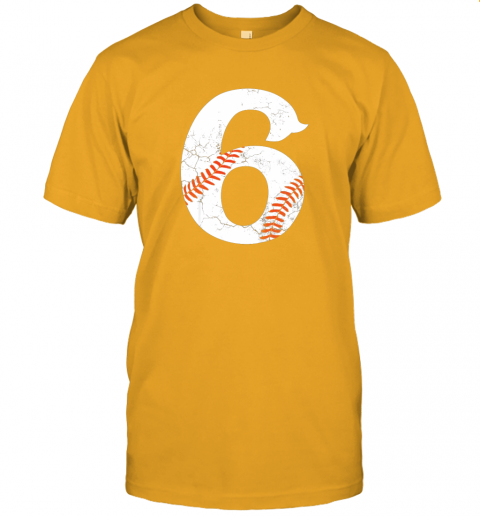 68a2 kids happy birthday 6th 6 year old baseball gift boys girls 2013 jersey t shirt 60 front gold