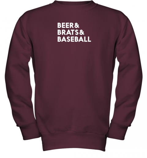 1y7g beer brats baseball summer ampersand list youth sweatshirt 47 front maroon