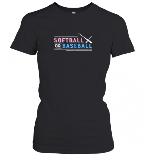 01ct softball or baseball shirt sports gender reveal ladies t shirt 20 front black
