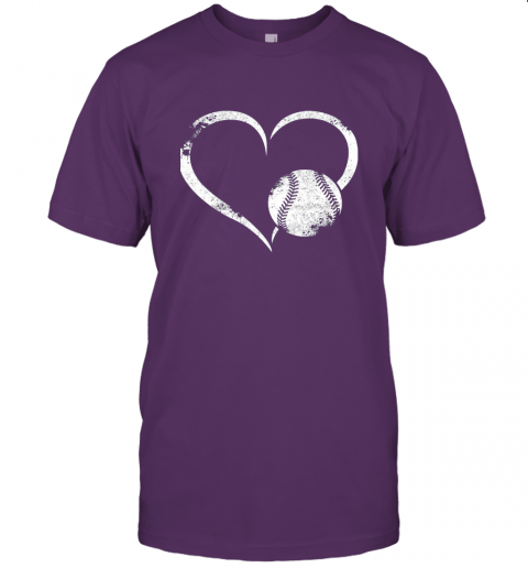 npdr i love baseballl funny baseball lover heartbeat jersey t shirt 60 front team purple