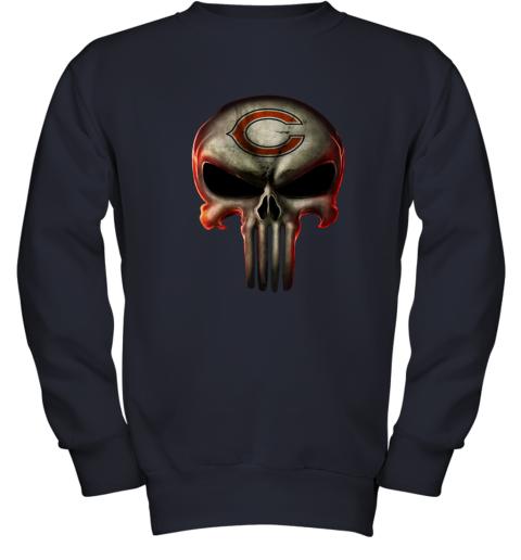 Chicago Bears The Punisher Mashup Football Youth Sweatshirt