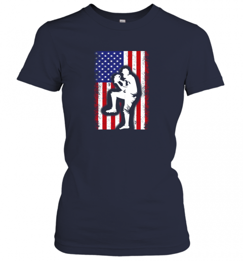 x8ce vintage usa american flag baseball player team gift ladies t shirt 20 front navy