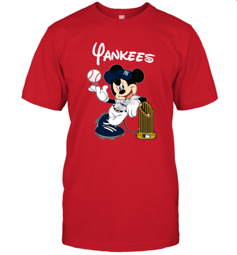kmlj new york yankees mickey taking the trophy mlb 2019 jersey t shirt 60 front red