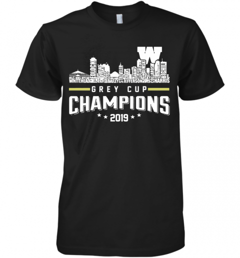 107Th Grey Cup Blue Bombers Building Players Champions 2019 Premium Men's T-Shirt