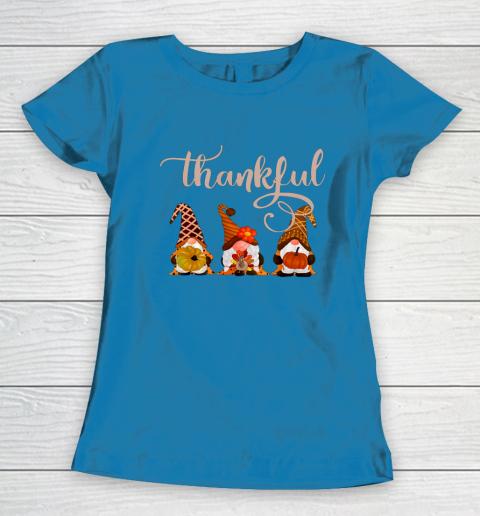 Cute Thanksgiving Thankful Gnomes Women's T-Shirt 6