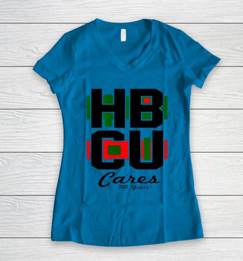HBCU Cares College University Graduation Gift Black School Women's V-Neck T-Shirt 4