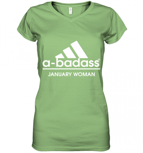 A Badass January Woman Are Born In March Women's V-Neck T-Shirt
