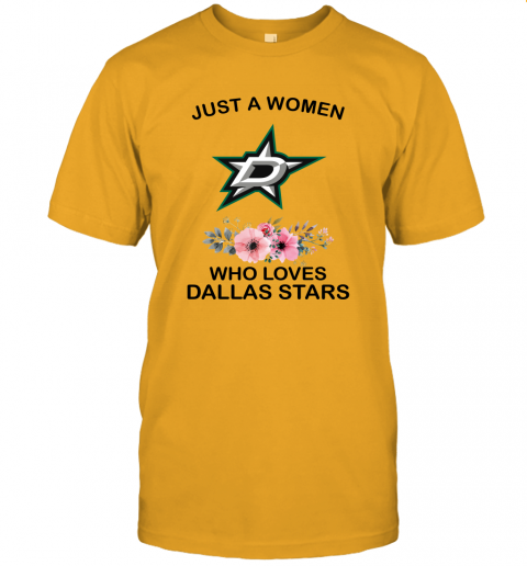 NHL Just A Woman Who Loves Dallas Stars Hockey Sports Unisex Jersey Tee